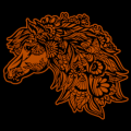 Horse Mandala Zentangle