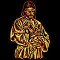 Jesus Carrying a Lost Lamb 03