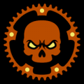 Bicycle Sprocket Skull 02