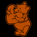 Winnie the Pooh Heart Hug