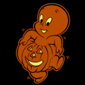 Casper Inside Pumpkin