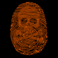 Fingerprint with Skull
