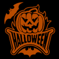 Halloween Pumpkin with Bats