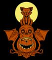Cat Skull Pumpkin