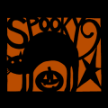 Spooky Cat and Pumpkin