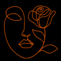 Floral Face Script