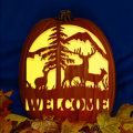 Welcome Deer Sign CO