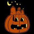 Snoopy Sleeping on Pumpkin