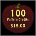 100 Pattern Credits