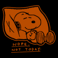 Snoopy Not Today