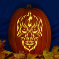 Skull with Flames CO