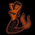 Retro Mermaid 02