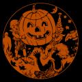 Vintage Halloween Scene 01
