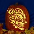 Flaming Skull 03 CO