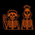 Ernie and Bert Skeletons