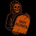 Grim Reaper Happy Halloween 01