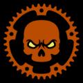 Bicycle Sprocket Skull 01