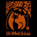 Happy Halloween Cat and Pumpkin